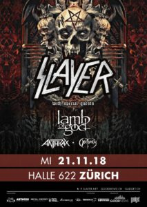 Slayer - Halle 622 Zürich 2018