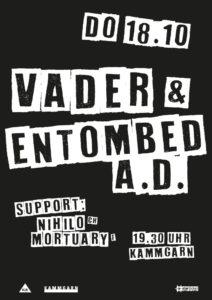 Vader Entombed A.D. - Kammgarn Schaffhausen 2018
