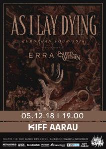 As I Lay Dying - Kiff Aarau 2018