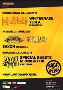 Rock The Ring 2019 - Hinwil (Plakat)