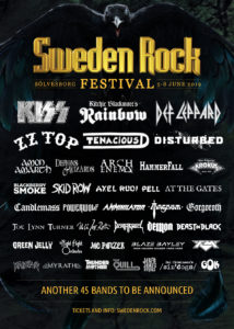 Sweden Rock Festival 2019 - Flyer