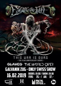Escape The Fate - Galvanik Zug 2019 (Flyer)