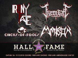 Frozen Gate - Plattentaufe - Hall of Fame Wetzikon 2018