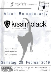Kissin' Black - Kulturwerk 118 Sursee (Flyer)
