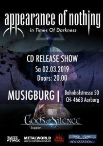 Appearance Of Nothing - Musigburg Aarburg 2019 (Flyer)