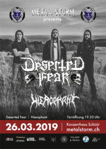 Deserted Fear - Schüür Luzern 2019 (Flyer)