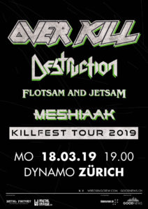 Overkill - Dynamo Zürich 2019 (Flyer)