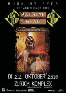 Machine Head - Komplex 457 Zürich 2019 (Flyer)
