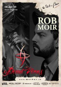 Rob Moir und Dead Venus - Met-Bar Lenzburg 2019 (Flyer)