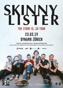 Skinny Lister - Dynamo Zürich 2019 (Flyer)