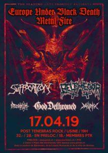 Suffocation - Post Tenebras Rock Usine Genève 2019 (Flyer)