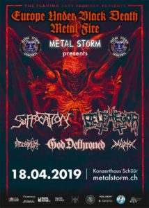 Suffocation / Belphegor - Schüür Luzern 2019 (Flyer)