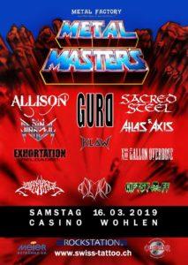 Swiss Metal Masters 2019 - Casino Wohlen (Flyer)