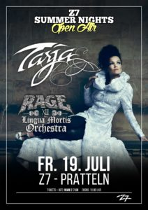 Tarja - Z7 Summer Nights Open Air 2019 (Flyer)