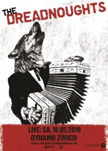 The Dreadnoughts - Dynamo Zürich 2019 (Flyer)