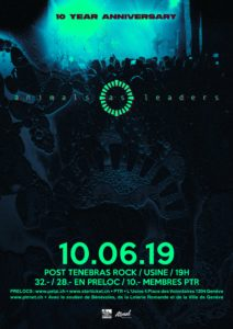 Animals As Leaders - Post Tenebras Rock Usine Genf 2019 (Flyer)