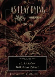 As I Lay Dying - Volkshaus Zürich 2019 (Flyer)