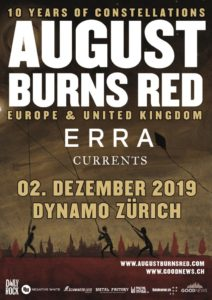 August Burns Red - Dynamo Zürich 2019 (Plakat)