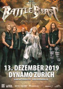 Battle Beast - Dynamo Zürich 2019 (Plakat)