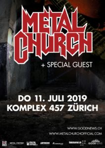 Metal Church - Komplex 457 Zürich 2019 (Plakat)