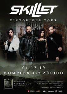 Skillet - Komplex 457 Zürich 2019 (Flyer)