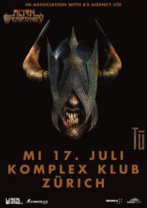 Alien Weaponry - Komplex Klub Zürich 2019 (Flyer)