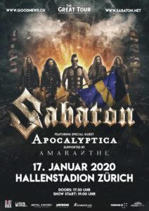 Metalinside.ch - Sabaton - Hallenstadion Zürich 2020 (Plakat)