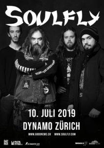 Soulfly - Dynamo Zürich 2019 (Plakat)