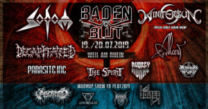 Baden in Blut Open Air 2019 – Sodom, Wintersun, Decapitated, Burning Witches uvm.