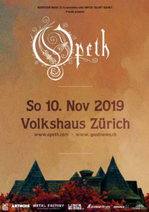 Opeth - Volkshaus Zürich 2019 (Plakat)