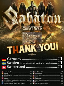 Sabaton - The Great War - Nr. 1