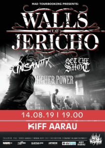 Walls of Jericho - KiFF Aarau 2019 (Flyer)