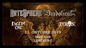 HateSphere - Met-Bar Lenzburg 2019 (Flyer)