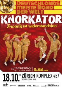 Knorkator - Komplex 457 Zürich 2019 (Flyer)