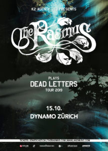 The Rasmus - Dynamo Zürich 2019 (Flyer)