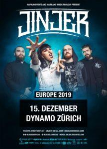 Jinjer - Dynamo Zürich 2019 (Flyer)