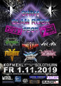 Swiss Glam Rock Fest - Kofmehl Solothurn 2019 (Flyer)
