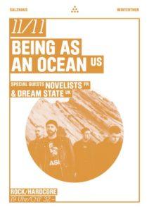 Being As An Ocean - Salzhaus Winterthur 2019 (Flyer)