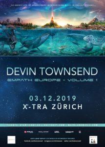 Devin Townsend - x-Tra Zürich 2019 (Flyer)