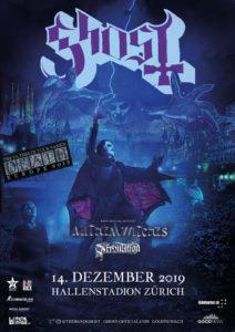 Ghost - Hallenstadion Zürich 2019 (Plakat)