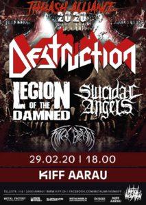 Destruction - KiFF Aarau 2020 (Flyer)