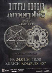Dimmu Borgir und Amorphis - Komplex 457 Zürich 2020 (Plakat)