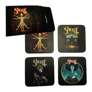 Ghost Bierdeckel 4er-Pack