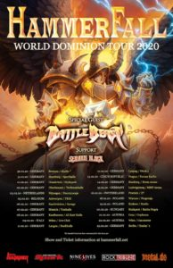 HammerFall - World Dominion Tour 2020