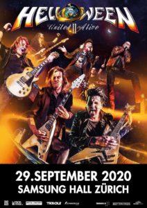 Helloween - Samsung Hall Zürich 2020 - Plakat