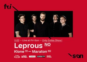 Leprous - Fri-Son Fribourg 2020 mit Support