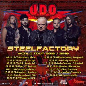 U.D.O. Steelfactory Tour 2019