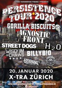 Persistence Tour 2020 - x-Tra Zürich (Plakat)
