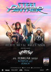 Steel Panther - Komplex 457 Zürich 2020 (Plakat)