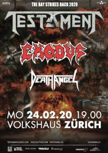 Testament - Volkshaus Zürich 2020 (Plakat)